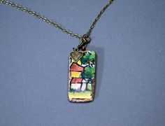 A Little Bit of Italy Ceramic Pendant by bonnieline on Etsy....www.etsy.com/shop/bonnieline