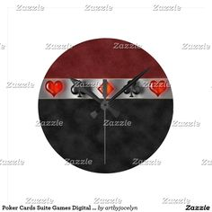 Poker Cards Suite Games Digital Black Red Suede