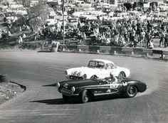 Vintage Corvettes Drifting