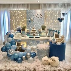 52 the basic facts of baby shower decorations ideas for boys 24 52 the basic facts of baby shower decorations ideas for boys 24 aesthetecurator Baby Shower Decorations For Boys, Boy Baby Shower Themes, Star Baby Showers, Baby Shower Balloons, Baby Shower Gender Reveal, Baby Shower Parties, Baby Boy Shower, Cloud Baby Shower Theme, Deco Baby Shower