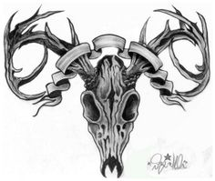 deer skull tattoo designs