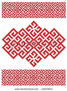 stock vector : russian embroidery texture