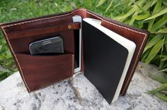 Ipad Mini cover and Large Moleskine case leather chocolate brown ...