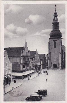 Ostpreußen, Insterburg Alter Markt mit Lutherkirche