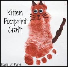 House of Burke: Pet Print Crafts  Fun craft!