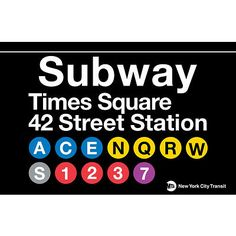 And a modern New York Subway sign (we pinned a vintage one too).  #nyc