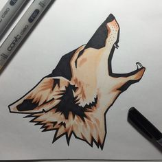 New Copic ciao set test drive. #markers #sketch #illustration #coyote #copic #ciao