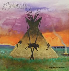 Comanche Art Spotlight: Timothy Tate Nevaquaya  CNMCC Collection. Timothy Tate Nevaquaya. Untitled, no date. Watercolor on paper. Museum Purchase