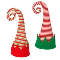 """RAZ Elf Hat Tree Topper - Assorted  Assorted Styles - priced individually - choose by stripe color Made of Acrylic Yarn Measures 18"""" X 9"""" Can Also be a Tree Topper  RAZ 2015 Peppermint"""