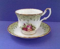Royal Albert Teacup Set Bone China England Old by Whitepearlfinds