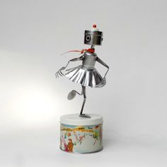 """Ice Skater Robot"" by leuckit / etsy"