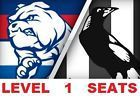 #Ticket  WESTERN BULLDOGS v COLLINGWOOD AFL Tickets ETIHAD Level 1 seats 1-4 tickets #Australia