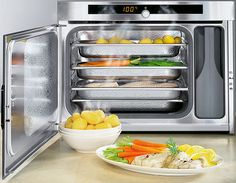 This Miele steam oven is free standing and can be easily moved around even the smallest kitchen.