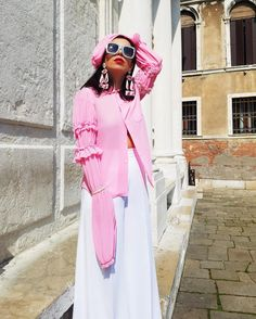 Aureta wearing Gucci, Comme des Garcon and Stella McCartney in Venice
