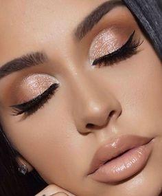 Nude Makeup, Eyeshadow Makeup, Brown Makeup, Neutral Makeup, Makeup Lips, Makeup Primer, Eye Primer, Eyebrow Makeup, Eyeshadow Ideas