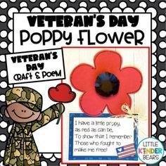 Poppies Poem, Veterans Day Poppy, Teacher Newsletter, Flower Crafts, Teacher Resources, Easy Crafts, Poems, Teaching, Flowers