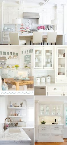 gorgeous white kitchen!