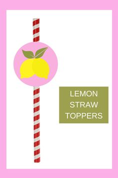 Free printable lemonade straw toppers are a fun and easy way to add a little extra fun to your 1st birthday lemonade themed birthday décor. Simply cut and print this free printable lemonade party idea. Then tape the circle to a fun straw. These can also be used as a cupcake topper. Be sure to save this cute lemonade cupcake idea for later use. Head on over to our blog, VanahLynn.com. Printable Baby Shower Invitations, Diy Invitations, Christmas Activities For Toddlers, Pink And Gold Birthday Party, Cheap Baby Shower, Baby Shower Desserts, Craft Projects For Kids, Party Kit, Business For Kids