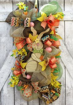 Easter Deco Mesh Wreath Swag Easter Swag by FestivalofWreaths, $85.00