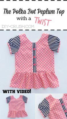 Polka Dot Peplum Top Sewing Pattern With A Twist   DIY Crush