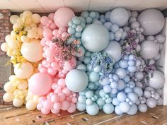 "Mʏ O Mʏ Eᴠᴇɴᴛs on Instagram: ""Pastel dreaming 💛💗💚💙💜our floral balloon wall🌸was insta ready for all the gorgeous members @the_hangout_uk spring fest celebrations 🎈"""