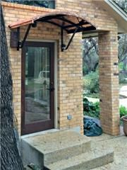 One of the simplest ways to dress up a door is by adding an awning. While major home construction and landscape projects require much planning, the option of in Copper Awning, Metal Awning, Front Door Awning, Porch Awning, Copper House, House Trim, Side Porch, Metal Canopy, Canopy Design