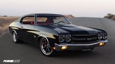 BEHOLD: The Ironworks Speed & Kustom LLC. supercharged LSA-powered 1970 Chevelle on Grip Equipped Laguna wheels finished with Graphite centers and Polished stepped-lip outers. See more at: http://www.forgeline.com/customer_gallery_view.php?cvk=910 #Forgeline #GripEquipped #Laguna #notjustanotherprettywheel #madeinUSA #Chevy #Chevelle