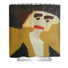 Patrick Francis Designer Shower Curtain featuring the painting The Graduate by Patrick Francis