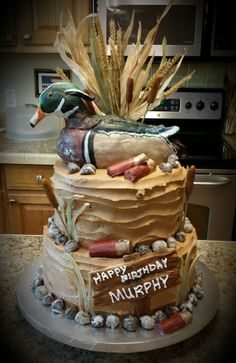 Duck Hunting Grooms Cake  Grooms Cakes  Pinterest  Perfect wedding Cake and Wedding cake