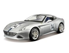 Bburago's stunning range of Ferrari die cast cars cover subjects old and new. Each model has been replicated in popular scales and features a factory painted metal body with multiple coloured plastic detailing parts.