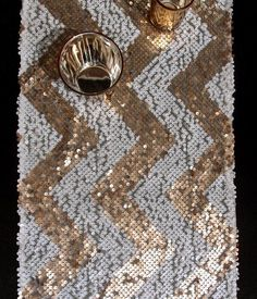 Sequin Chevron table runners | Modern Islamic Decorations For Ramadan And Eid
