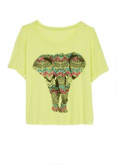 Aztec Elephant Tee - View All Graphic Tees - Graphic Tees - Clothing - dELiA*s (Large)