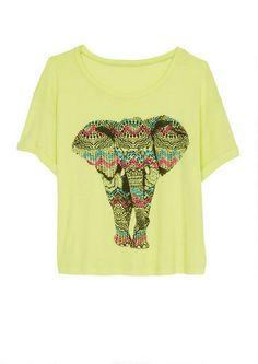 Aztec Elephant Tee - Graphic Tees - Tops - dELiA*s