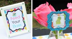 glitzy bookworm party decorations