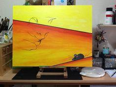 Cat heav'n!  Acryl op MDF 60 x 80 cm