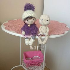 Mini dolls in progress #crochet #crochetdoll #amigurumi #amigurumidoll #handmade #вязание #вязанаяигрушка #вязанаякукла #madebyrusi #rusidolls