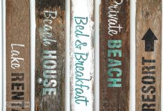 Beach signs with the Getaway Collection -Funky Junk's Old Sign Stencils-3558