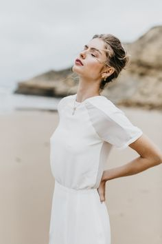 modern, minimal wedding dress by Georgia Young Couture