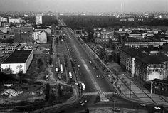Berlin: Ernst-Reuter-Platz; auf Straße des 17. Juni zum Großen Stern [Siegessäule] 1960