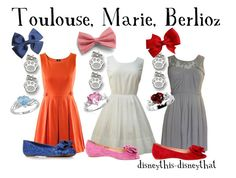 """Toulouse, Marie, and Berlioz"" by disneythis-disneythat ❤ liked on Polyvore featuring H&M, Queen Bee, Sacha and Carvela"