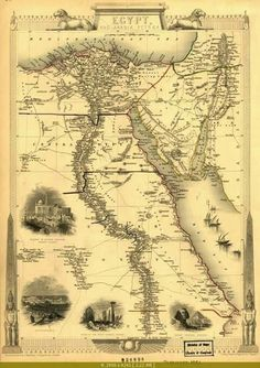 Map of Egypt 1851