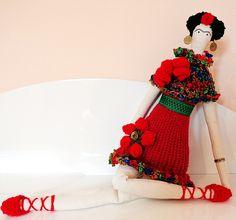 Boneca Tilda Frida Kahlo VENDIDA