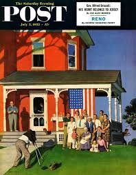 Family Portrait on Fourth of July by John Falter, July 5, 1952, The Saturday Evening Post.