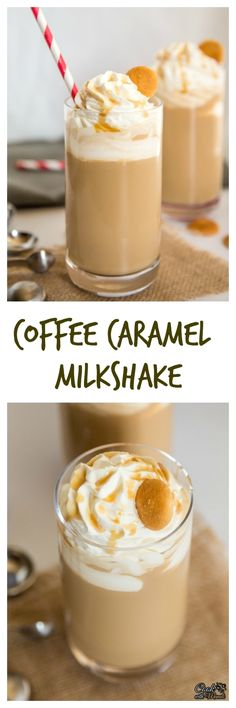 Coffee Caramel Milkshake is a refreshing summer treat! Find the recipe on www.cookwithmanali.com
