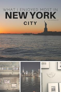 What I enjoyed most in New York