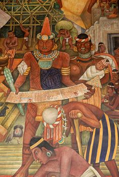in Ancient West Mexico The ancient Purepecha of Mexico, from a mural by Diego Rivera.The ancient Purepecha of Mexico, from a mural by Diego Rivera. Diego Rivera Art, Diego Rivera Frida Kahlo, Frida And Diego, Mexican Artists, Mexican Folk Art, Arte Latina, Statues, Maya, Aztec Art