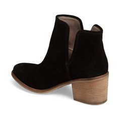 Women's Hinge Barris Block Heel Bootie ($80) ❤ liked on Polyvore featuring shoes, boots, ankle booties, hinge boots, bootie boots, ankle boots, block heel ankle boots and block heel bootie