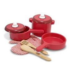 Melissa & Doug Deluxe Wooden Kitchen Accessory Set,$21.51