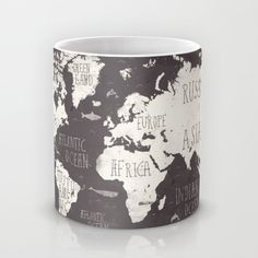 The World Map Mug by Mike Koubou | Society6 i need this