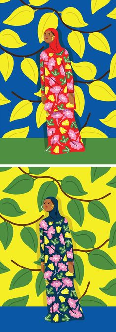 Colorful illustrations by Kiki Ljung